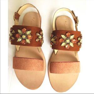 Anthropologie Awakening Embellished Sandals NIB